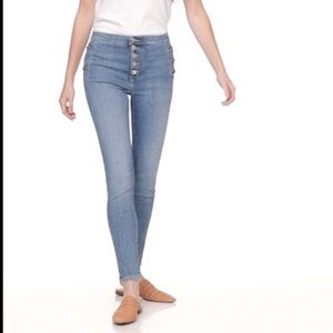 Banana Republic High Rise Skinny Button Fly Jeans